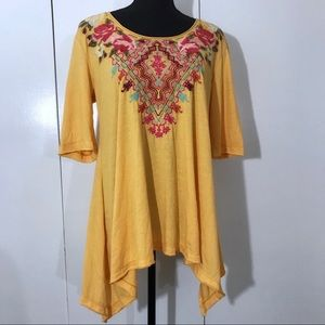 Johnny Was•Embroidered Top Medium NWT!